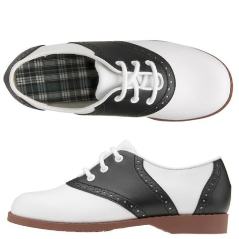Oxford saddle shoe