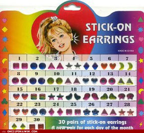 stick on earrings