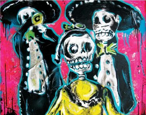 dia de los muertos art copy